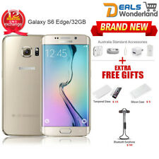 New Samsung Galaxy S6 Edge G925F Smartphone 4G LTE Mobile 32GB Gold 1Yr Wty