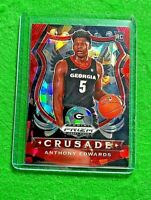 ANTHONY EDWARDS RED ICE PRIZM ROOKIE CARD RC CRUSADE TIMBERWOLVES 2020 PANINI RC