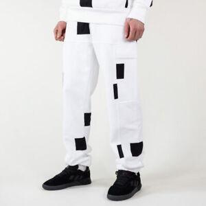 New Adidas Skateboarding Heavyweight Shmoofoil Box Pants Sz S-M White-Black RARE