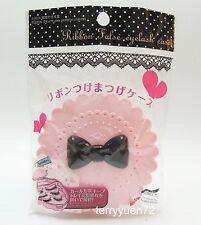 Daiso Cute Bow Fairy Ribbon False Eyelash Storage Case Container Pink Box