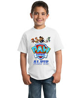 Paw Patrol Logo Personalised Children's T-Shirt Kids tshirt Including Name