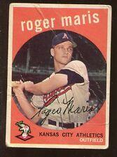 Roger Maris 1959 Topps 2nd YEAR CARD #202 New York Yankees Legend Offgrade!