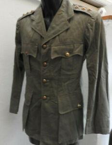 WW2 Military British Army Artillery Jungle Issue Shirt Tunic Captain Burma (5500