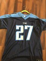 PUMA TENNESSEE TITANS #27 EDDIE GEORGE MENS XL NFL FOOTBALL JERSEY