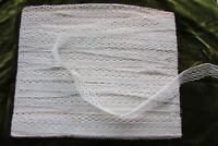 Beautiful Antique French Delicate Cream Lace UNUSED NEW OLD STOCK c1910 83FT!