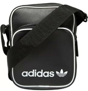 adidas Originals Vintage Mini Cross Body Side Bag Black Unisex Brand New DH1006
