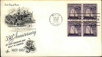1957 USA US Cover Stamp Issue Seagoing Ship Anniversary FDC Cancel BATH Maine