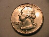1941-P Washington 25C Quarter Gem BU Lustrous White Eye Appealing Silver US Coin