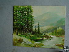 Vintage Robert Wood Print Mountain Stream LOOK