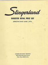 #MISC-0272 - JUNE 1 1974 SLINGERLAND  DRUM MUSICAL INSTRUMENT CATALOG PRICE LIST