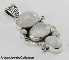 RAINBOW MOONSTONE PENDANT 925 STERLING SILVER ARTISAN JEWELRY COLLECTION Y112B