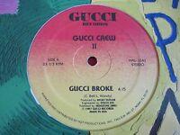 """ELECTRO HIP HOP 12"""" - GUCCI CREW II - GUCCI BROKE (1987)  HAL-1242"""