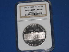 1992-W White House Commemorative Silver Dollar NGC PF69 Ultra Cameo B5846