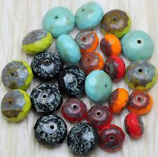 **Pick Your Color **  10pcs CHUNKY GEMSTONE CUT PICASSO CZECH GLASS BEADS