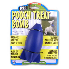 Pet Buddies Durable Rubber Ball Floating Fetch Toy  - Pooch Treat Bomb