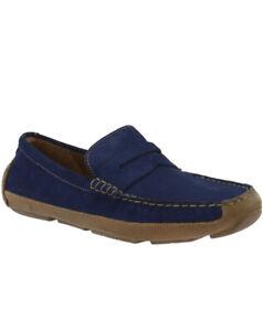 Men Cole Haan Wyatt Penny Loafers Shoes Sneakers Suede Navy C30973