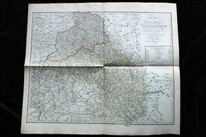 Große antike histor.Landkarte, Galizien, Ukraine, Polen, Schmidburg Weimar, 1804