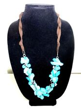 "Necklace 26"" Womans Turquoise Stone Jewelry"