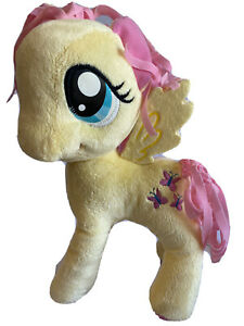 "My Little Pony 2015 Funrise 14"" Plush Fluttershy Butterfly Yellow Pink"
