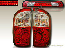 2004-2006 TOYOTA TUNDRA DOUBLE CAB RED CLEAR LED TAIL LIGHTS & 3RD BRAKE LIGHT