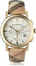 Burberry BU9752 - The City White Plaid Leather Women's Watch