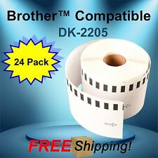 24 Rolls of Brother™ Compatible DK-2205 Continuous Labels - 100 Ft