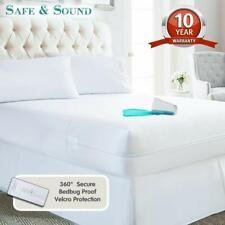 Waterproof Mattress Protector Cover Encasement Zippered Bed Bug Hypoallergenic