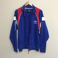 Western Bulldogs Official AFL Football Track Jacket Mens Medium - No Zipper