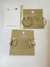 J.Crew Crystal Hoop Earrings Round Hoop Earrings Banana Republic Stud Earrings