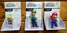 Lot of 3 - World of Nintendo figures -  Luigi - Mario - Tetra
