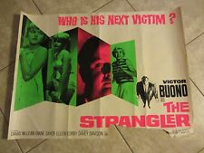 The Strangler movie poster - Victor Buono  -  original uk quad