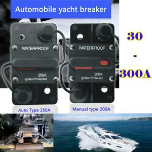 30-300A AMP Car Audio Breaker In line Circuit Manual Reset Boat 12V-48 Volt Fuse