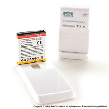 3600mAh Extended Battery for White Galaxy S 2 Hercules T989 T-Mobile Charger