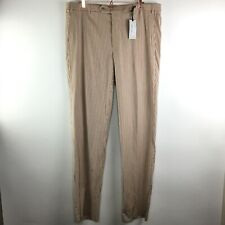 Zanella Todd Wool Blend Striped Flat Front Pants Size 40 Unfinished NWT Italy