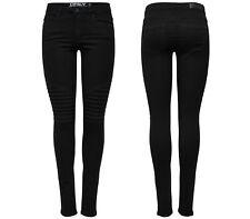 ONLY Damen Jeans Hose Leggings onlROYAL REG SK BIKER PIM 600 NOOS Skinny schwarz