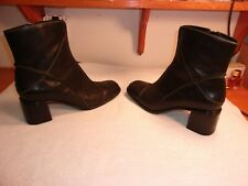 Clarks Black Leather Ankle Boots 12M