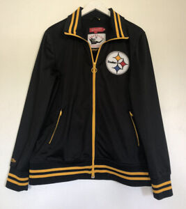 mitchell ness throwbacks pittsburgh steelers track jacket mens 2xl