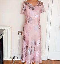 A68 Bnwt Jacques vert Pink & Grey Floral Silk Mix Dress Size 8