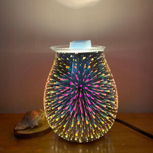 Electric Wax Melt Burner Glass Aroma Diffuser Lamp Light Fragrance Decor