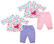 Conjuntos de ropa de manga larga de poliéster para niñas de 0 a 24 meses