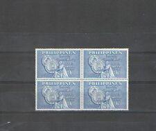 Q879 - FILIPPINE - 1959 - QUARTINA N°481 ** ATENEO DI MANILA