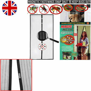 Magic Mesh Hands Free Magnetic Screen Door Insect curtain Net Butterfly pattern
