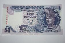 (PL) RM 1 BA 4144098 UNC JAFFAR HUSSEIN 6TH SERIES REPLACEMENT NOTE