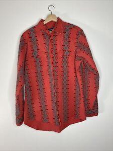 Aztec Vaporave INSANE 90s Wrangler Western Pearl Snap Shirt totally vintage 1990s