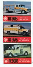 US Fire Engines trading cards  one set three     new out of box.