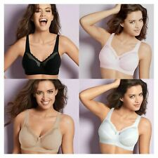 Bestform Cotton Comfort 535 Wire Free Bra Black, Pink, White or Nude 34-48 B-G