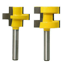 2PCS/set 3T T-type 1/4 Inch Shank Tongue Groove Router Bit Tenon Cutter Tool
