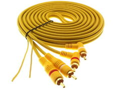5m Cinch Stereo Kabel mit Remote Leitung 2xRCA Endstufe HiFi Chinch Gold Stecker