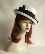 Polyester Wide Brim Vintage Hats for Women