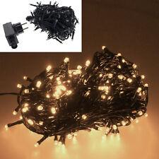 10m 100 LED Christbaum Weihnachtsbaum Lichterkette Beleuchtung für Innen Außen